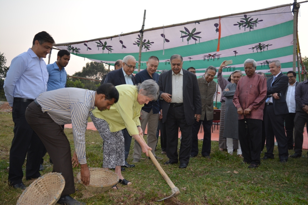 Mme France Maruqet, Principal Trustee, South Asia Foundation and  Trustee, MSF at Groundbreaking ceremony  by Sunil Binjola
