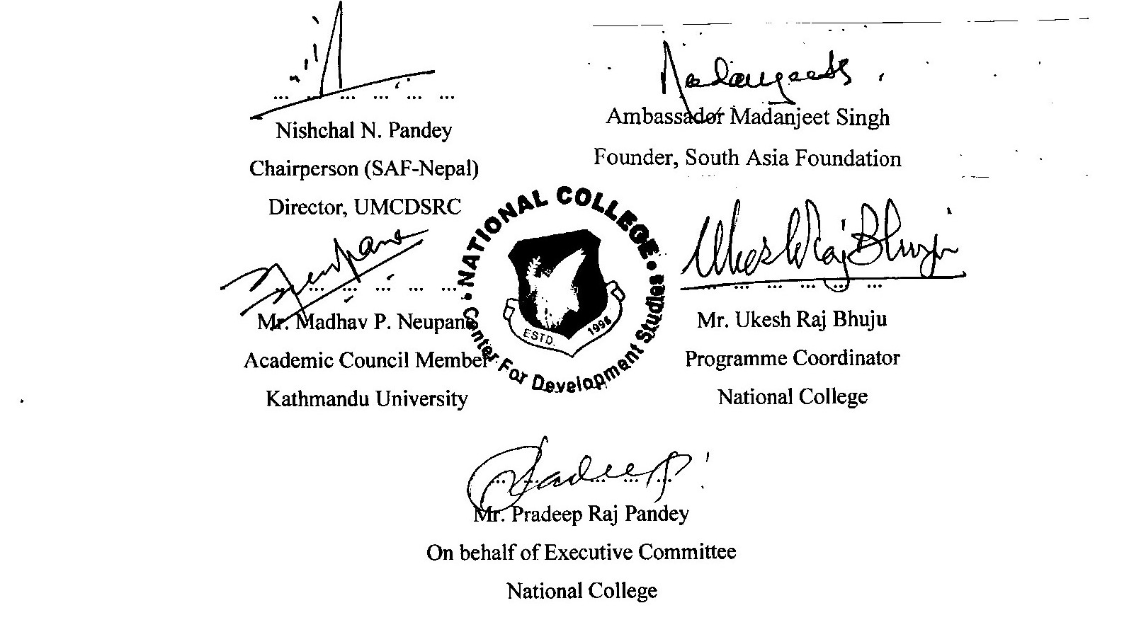 Signed MoU by UMCDSRC - South Asia Foundation