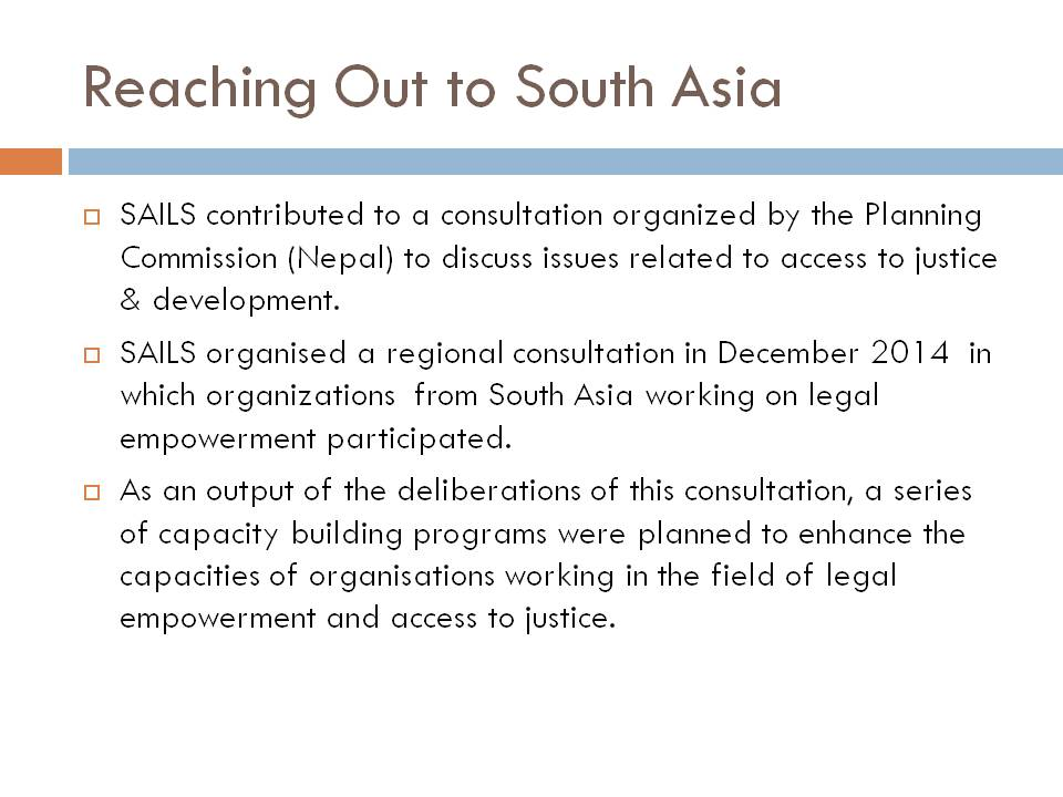 South Asia Foundation- Bangladesh Report of Activities 2015
