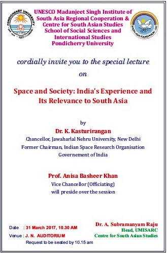 Lecture on Space and Society by Prof. Anisa Basheer Khan