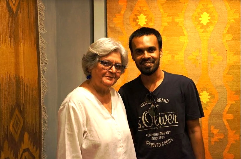 Mohammad Mainul Islam with Mrs. Salima Hashmi