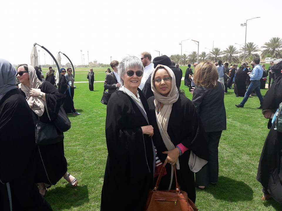 Mme. France Marquet Principal Trustee, MSF with Alumna UMCSAJ Ms. Anita Pariyar