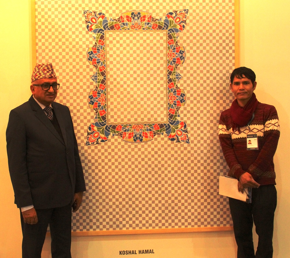 Left to Right Side Nepalese Ambassador to India H.E. Mr. Deep Kumar Upadhyay with Koshal Hamal Alumani UMISAA
