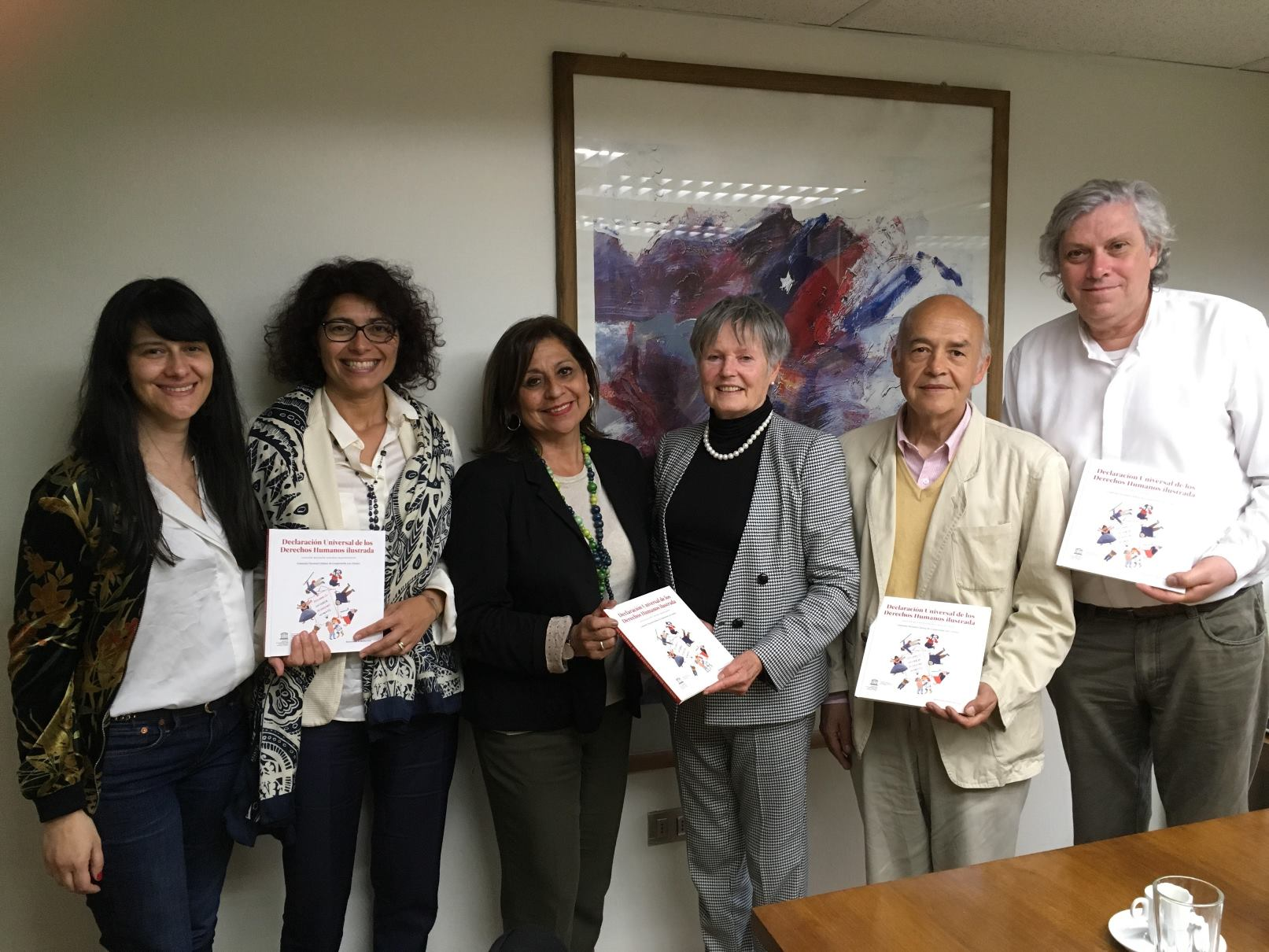 Mme France, Trustee, MSF visits to Ministry of Education , UNESCO National Commission, Santiago, Chile