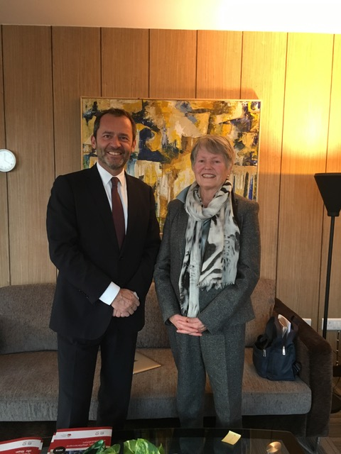 Mme. France Marquet with UNESCO new Director Mr. Eric Falt