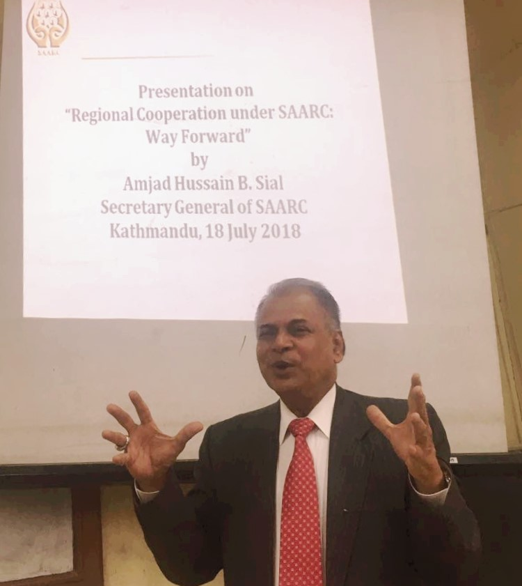H. E. Mr. Amjad Hussain B. Sial, Secretary General of SAARC