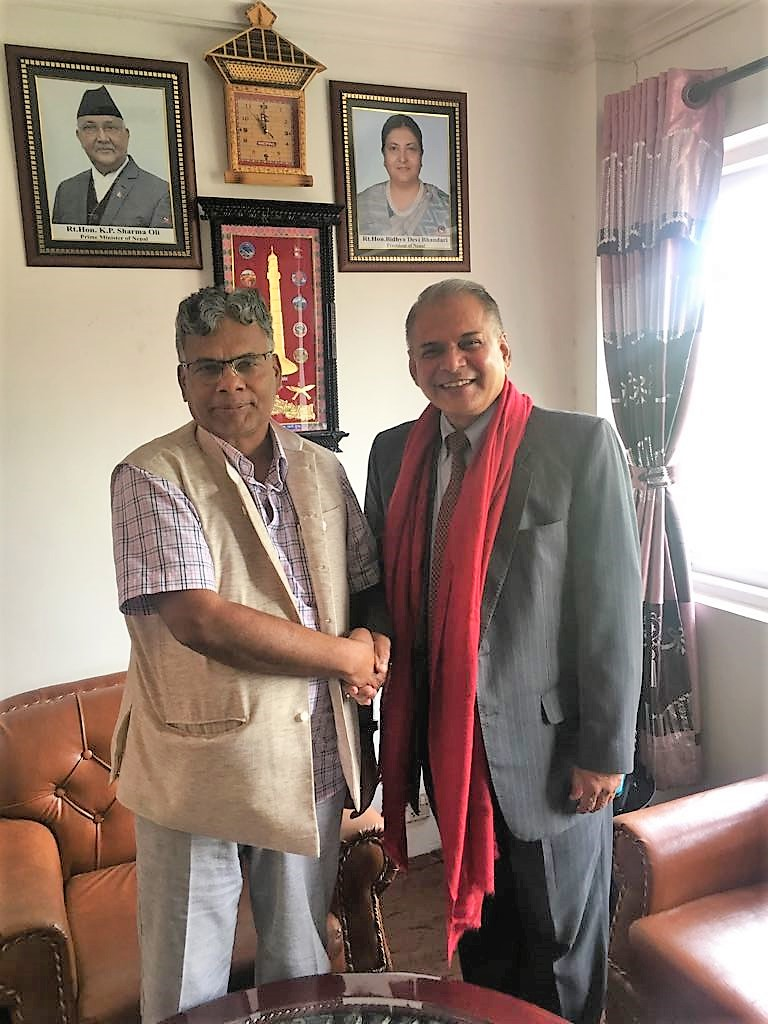 Press Release - Secretary General of SAARC calls on the Minister for Industry, Commerce and Supplies of Nepal
