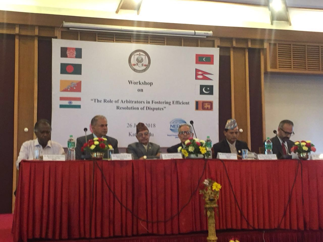Press Release - Workshop on the Role of Arbitrators in Fostering Efficient Resolution of Disputes, organized jointly in Kathmandu today by SARCO