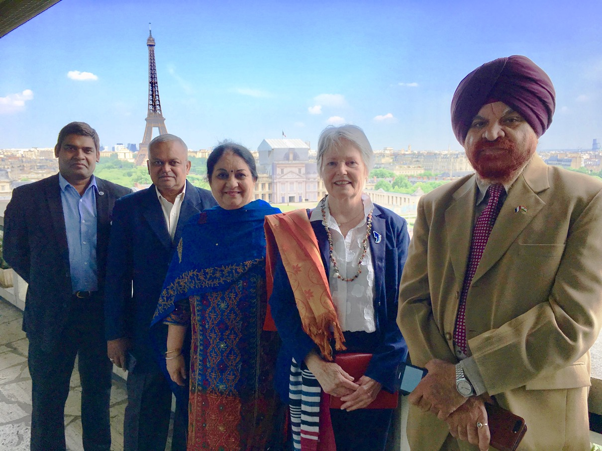 Prof. Gurmeet Singh is with Mme. France Marquet in France