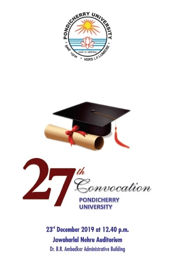 27th Convocation in Pondicherry University