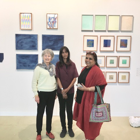 Mme France Marquet, Principal Trustee MSF with Ayesha Sultana (Bangladesh ) former Student of UNESCO Madanjeet Singh Institute for Asian Art, BNU, Lahore