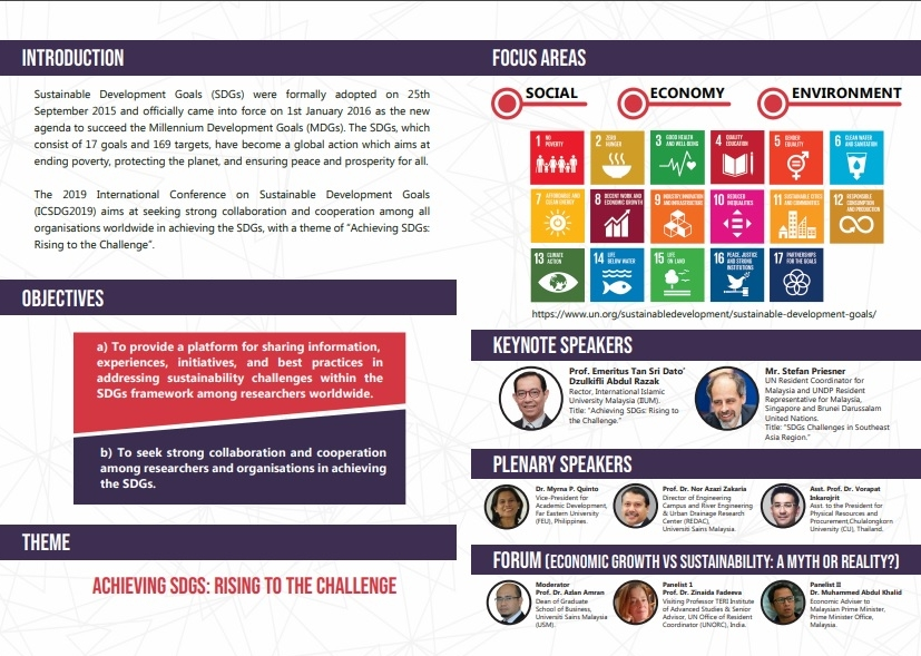2nd International Conference on Sustainable Development Goals 2019