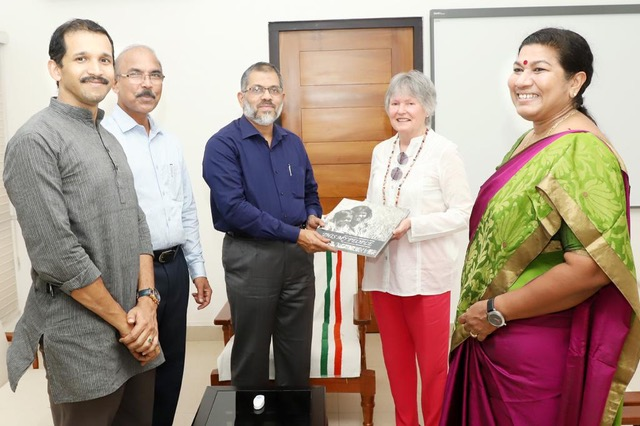 Mme France Marquet SAF representative to UNESCO attended visited Calicut University