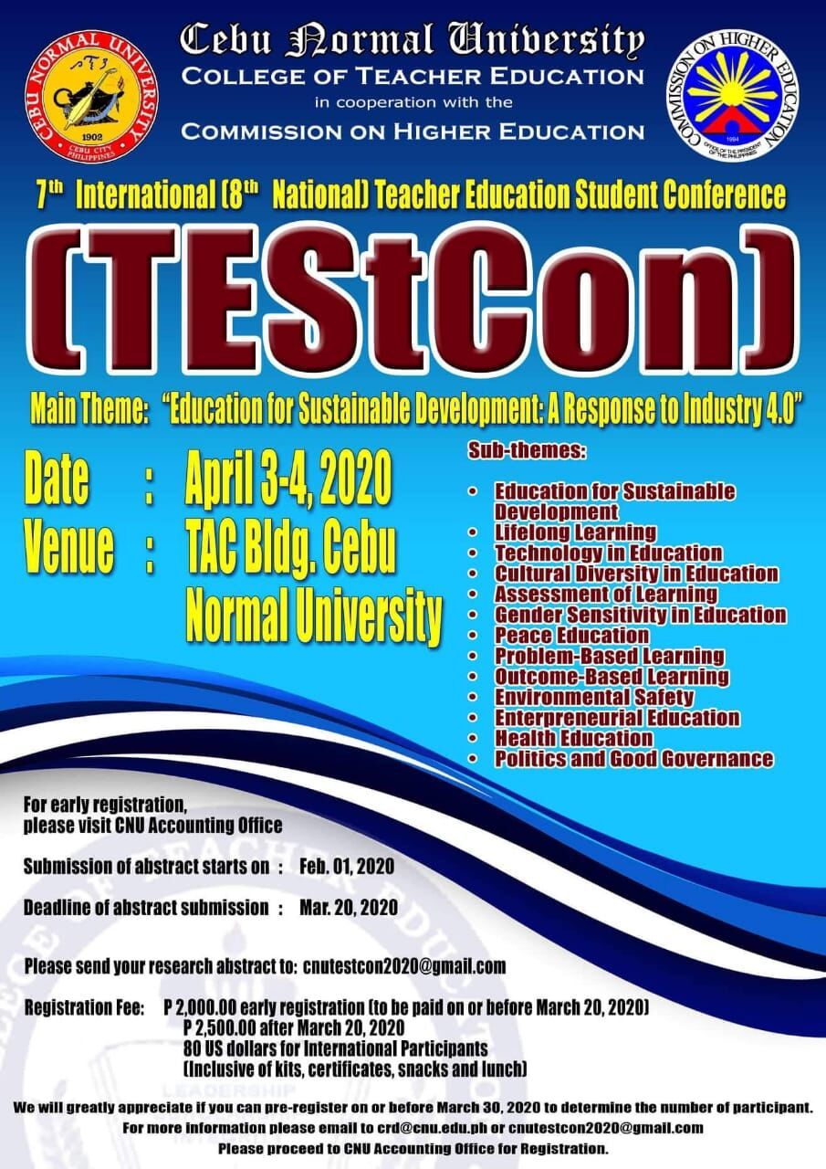 7th International Teacher Education Student Conference on ESD at Cebu Normal University