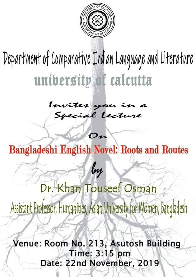 Dr Khan Tauseef Osman  UMIKS SAF Scholar  -Lecture English Novel Roots and Routes South Asia Foundation