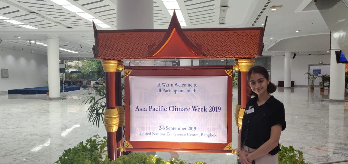 Ms. Pratibha Pant, SAF-Nepal scholar who participated in the Asia Pacific Climate Week in Bangkok