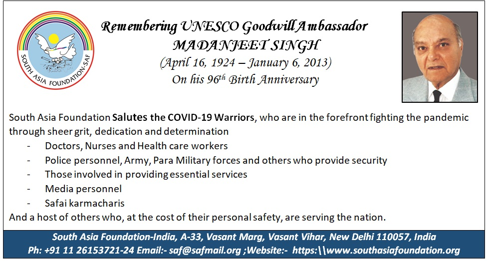 Remembering UNESCO Goodwill Amb Madanjeet Singh on his 96th Birthday